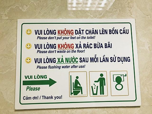 Nội quy sử dụng nhà vệ sinh di động